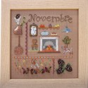 Novembre. Kit broderie carton perforé.