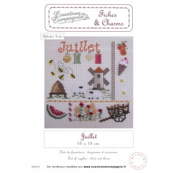 JUILLET - SEMI-KIT FICHES & CHARMS