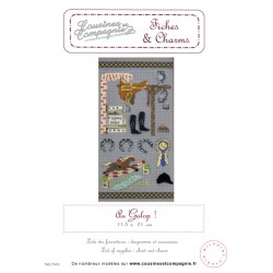 AU GALOP - SEMI-KIT FICHES & CHARMS