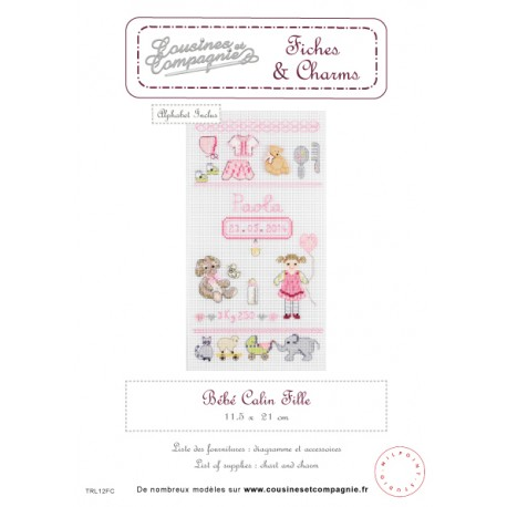 BEBE CALIN FILLE - SEMI-KIT FICHES & CHARMS