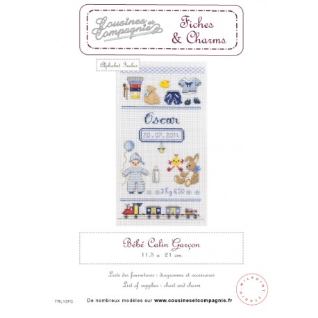 BEBE CALIN GARCON - SEMI-KIT FICHES & CHARMS