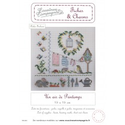 UN AIR DE PRINTEMPS - SEMI-KIT FICHES & CHARMS